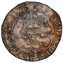 ENGLAND: Edward IV, 1st reign, 1461-1470, AR groat, London. PCGS AU58
