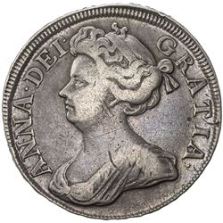 GREAT BRITAIN: Anne, 1702-1714, AR half crown, 1714. F-VF