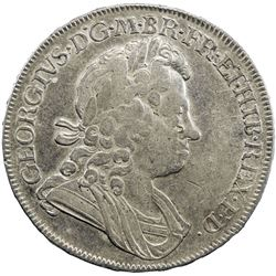 GREAT BRITAIN: George I, 1714-1727, AR crown, 1720 over 1718. VF