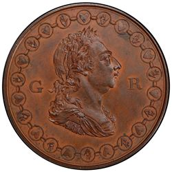 GREAT BRITAIN: George III, 1760-1820, AE medal, 1802. PCGS SP64
