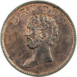 GREAT BRITAIN: AE 1/2 penny token. AU