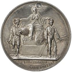 GREAT BRITAIN (SCOTLAND): AR medal (44.7g), 1829. EF