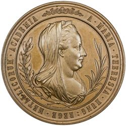 HUNGARY: AE medal (107.5g), 1870. UNC