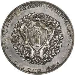GLARUS: AR shooting medal (38.69g), 1892. AU