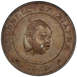 BIAFRA: Republic, AR crown, 1969. PCGS AU58