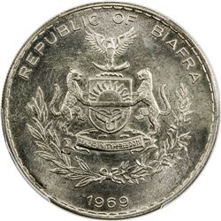 BIAFRA: Republic, AR pound, 1969. PCGS MS66