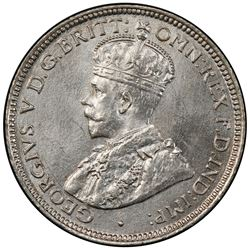 BRITISH WEST AFRICA: George V, 1910-1936, AR 6 pence, 1919-H. PCGS MS66