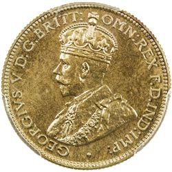 BRITISH WEST AFRICA: George V, 1910-1936, tin-brass 6 pence, 1936-KN. PCGS PF66