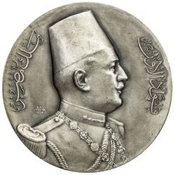 EGYPT: AR matte finish medal (174.0g), 1927. UNC