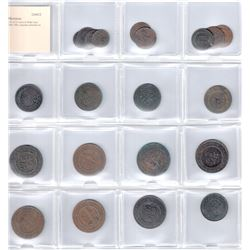 MOROCCO: LOT of 21 coins of Abdul Aziz 1894-1908