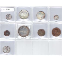 SOUTH AFRICA: 9-piece Proof Set, 1960, KM-PS48, 1960, choice