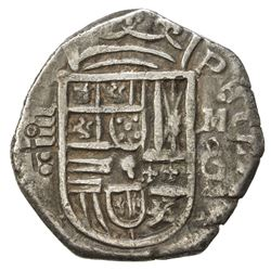 "SPAIN: Philip II, 1556-1598, AR 4 reales (13.31g), ""Granada"", contemporary imitation, VF"