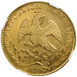 MEXICO: Republic, AV 8 escudos, 1863-Mo. NGC MS61