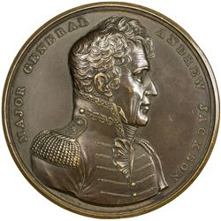 UNITED STATES:, 1815 (1824-early 20th cent.) AE medal (125.1g). EF-AU