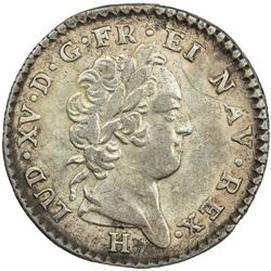 WINDWARD ISLANDS: Louis XV, 1715-1774, AR 12 sols, 1731-H. VF