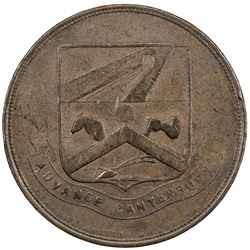NEW ZEALAND: AE penny token, ND. EF