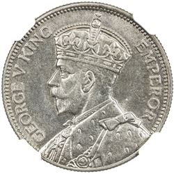 NEW ZEALAND: George V, 1910-1936, AR shilling, 1933. NGC MS63