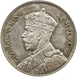 NEW ZEALAND: George V, 1910-1936, AR 1/2 crown, 1934. NGC MS64