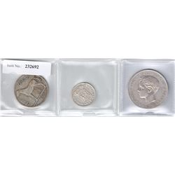 WORLDWIDE: LOT of three coins
