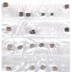 ANCIENT INDIA: LOT of 24 silver and 6 copper coins