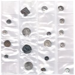 ANCIENT INDIA: LOT of 11 silver/billon and 7 copper coins
