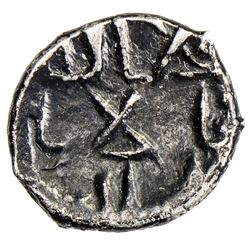 GOVERNORS OF SIND: 'Amr b. Muhammad, ca. 740-744, AR damma (0.47g), NM, ND. VF