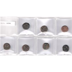 SIKH EMPIRE: LOT of 7 copper coins