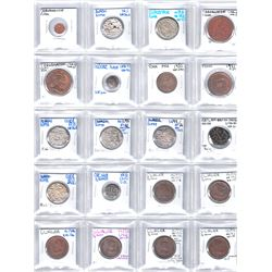 INDIAN STATES: LOT of 38 mostly better quality coins