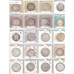 BRITISH INDIA: LOT of 26 silver rupees