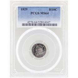 1829 Capped Bust Half Dime Coin PCGS MS64