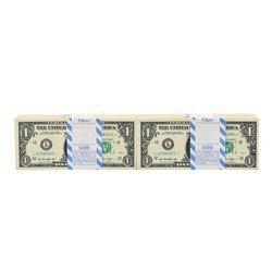 Lot of (1,000) Consecutive 2013 $1 Federal Reserve STAR Notes - 10 Packs