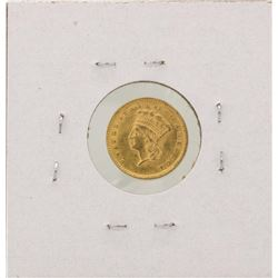 1857 $1 Indian Princess Head Gold Coin