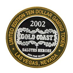 .999 Silver Gold Coast Las Vegas, Nevada $10 Casino Limited Edition Gaming Token