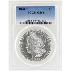 1898-S $1 Morgan Silver Dollar Coin PCGS MS64