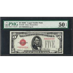 1928C $5 Legal Tender Note Fr.1528 PMG About Uncirculated 50EPQ