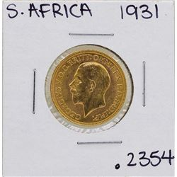 1931 South Africa Sovereign Gold Coin