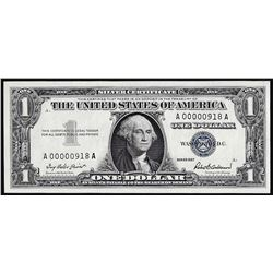 1957 $1 Silver Certificate Note Low Serial 3 Digit Number