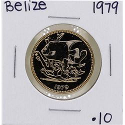 1979 Belize $100 1/10 oz. Gold Proof Coin