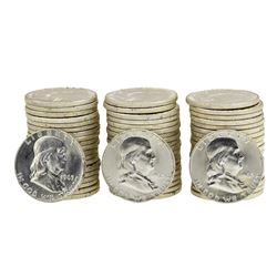 Lot of (3) Rolls of (20) 1963-D Brilliant Uncirculated Franklin Half Dollars