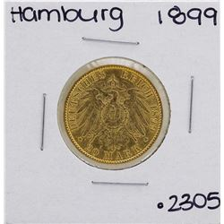 1899-J Hamburg 20 Mark Gold Coin
