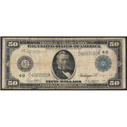 1914 $50 Federal Reserve Note