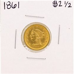 1861 $2 1/2 Liberty Head Quarter Eagle Gold Coin