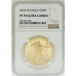 2010-W $50 American Gold Eagle Coin NGC PF70 Ultra Cameo