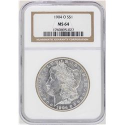 1904-O $1 Morgan Silver Dollar Coin NGC MS64