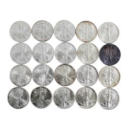 Roll of (20) Brilliant Uncirculated Mixed Date $1 American Silver Eagle Coins