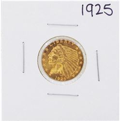1925 $2 1/2 Indian Head Quarter Eagle Gold Coin
