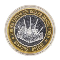 .999 Silver Stardust Resort Las Vegas, Nevada $10 Casino Limited Edition Gaming