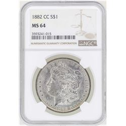 1882-CC $1 Morgan Silver Dollar Coin NGC MS64