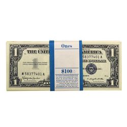 Pack of (100) Consecutive 1957B $1 Silver Certificate Notes