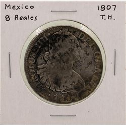 1807T.H. Mexico 8 Reales Silver Coin